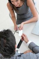 Zusammenarbeit von Unternehmen foto