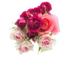 der Strauß Rosen