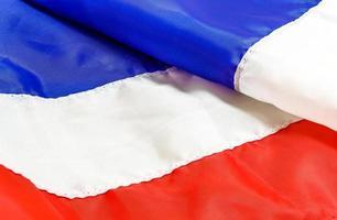 Flagge Frankreichs, Thailands oder Costa Rica foto