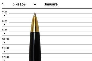 Stift und Tagebuch foto