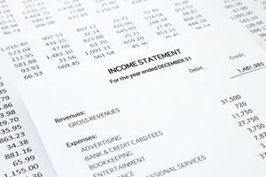 Gewinn- und Verlustrechnung für Kleinunternehmen foto