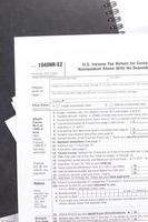 uns Einkommensteuerformular foto