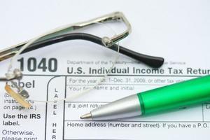 Formular für die Einkommensteuererklärung foto