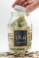 Handöffnungsglas für ira Fonds verwendet foto