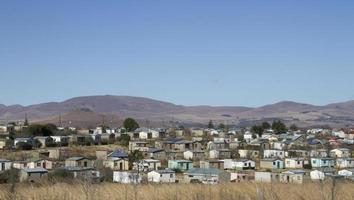 ländliches Dorf mit niedrigem Einkommen foto