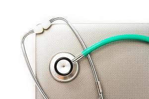 medizinisches Stethoskop. foto