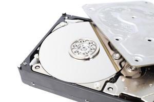 Festplattenlaufwerk (HDD) - Computerhardwarekomponenten. foto