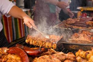 Zubereitung Grill foto