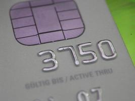 Kreditkarte mit Geldautomat foto