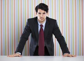 mächtiger Geschäftsmann foto