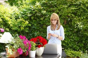 moderne Geschäftsfrau foto