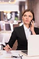 selbstbewusste Geschäftsfrau. foto