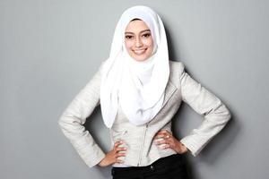 Geschäftsfrau mit Schal foto