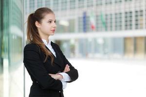 schönes Geschäftsfrauenporträt foto