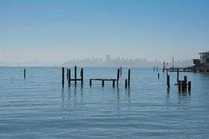 Skyline von San Francisco von Sausalito foto