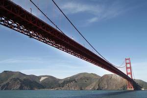 Ansicht der Golden Gate Bridge von unten 2