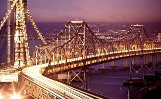 San Francisco Oakland Bay Bridge bei