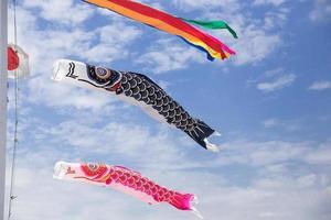 Karpfen tanzen am Himmel foto