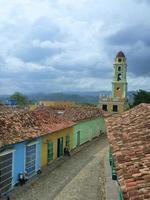Straßenszene in Trinidad, Kuba foto