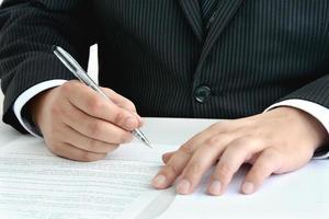 Geschäftskonzepte, auf Dokument prüfen foto