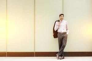 asiatische indische Geschäftsleute in voller Länge foto