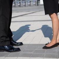 Beine von Geschäftsleuten foto