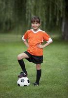 kleines Fußballmädchen foto