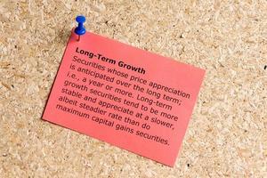langfristiges Wachstum foto