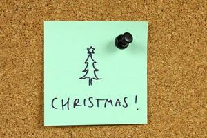 Büro Weihnachten foto