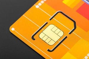 gelbe SIM-Karte