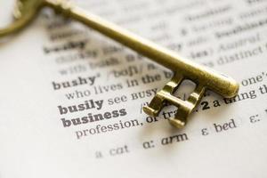 Geschäftserfolg, Teamwork Schlüsselkonzept Vision foto