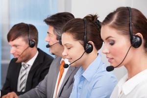Call-Center Angestellter foto