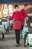 tragen Kleidung Beruf chinesische Kellner