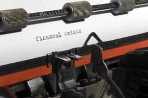 Finanzkrise foto