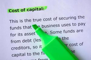 Kapitalkosten foto