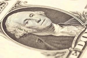 Fragment eine Dollar Banknote foto