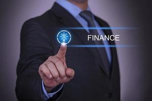 Business-Dollar-Glühbirnenfinanzierung