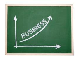 Finanzgeschäftsdiagramm zur Tafelwirtschaft foto