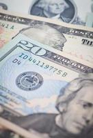 die Dollar-Banknoten für das Geschäfts- und Finanzkonzept foto