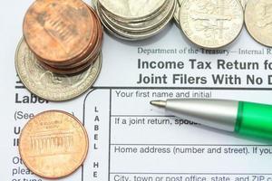 Einkommensteuerrückerstattung foto