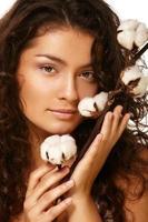 Gesicht und Baumwolle foto