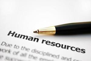 Humanressourcen foto