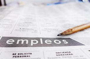 Spanisch klassifizierte Hilfe gesucht Abschnitt foto