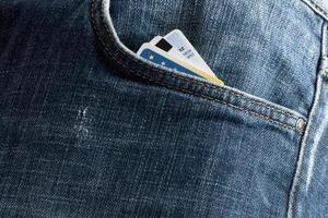 Kreditkarten in der Tasche foto