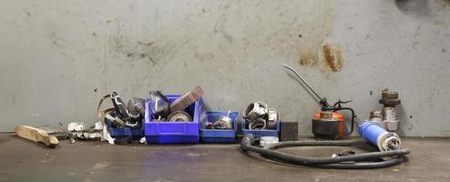 industrielle Werkbank foto
