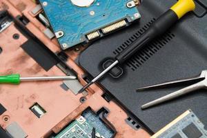 professionelle Laptop-Reparatur foto