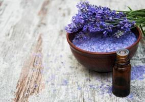 Lavendel und Salz foto