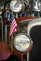 antikes Feuerwehrauto foto