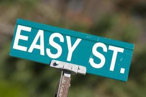 einfaches Straßenschild