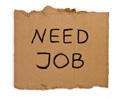 brauche einen Job